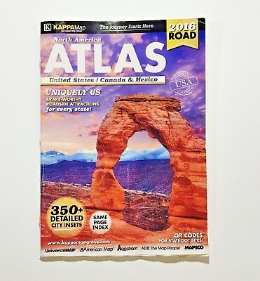 2016 Road Atlas North America Atlas United States/ Canada & Mexico - Kappa Map