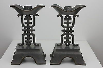 Chinese Made in Hong Kong Large Candlesticks 25cm H Weight 1,950kg EACH = 3,9kg