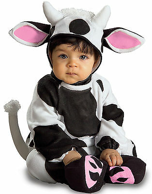 Rubie's Cozy Cow Baby Costume! Black & White Jumpsuit New [Size 12-18 Months]