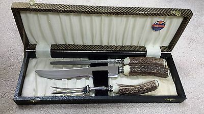 Vintage Cox Sheffield England 3 pc Carving set