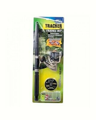 Jarvis Walker 6ft Tracker Telescopic 2-5kg Fishing Rod and Reel and Tackle Kit