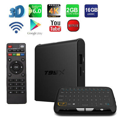Android 6.0 Quad Core T95X Amlogic S905X WiFi TV Box+Touchpad Keyboard Remote