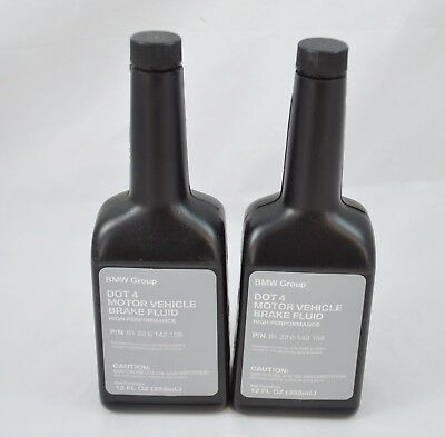 Lot of 2 BMW DOT 4 Motor Vehicle Brake Fluid High Performance 81220142156 NEW