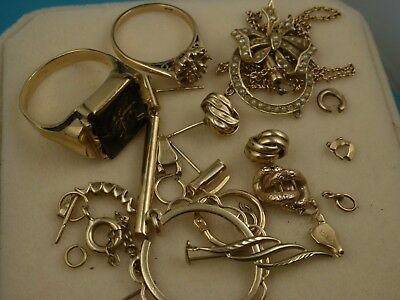 9k and 15k Solid Gold Jewellery Scrap 18.32g