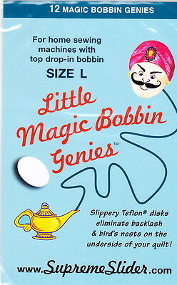 Little Magic Bobbin Genies - for home sewing machines with drop in bobbins