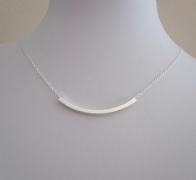 925 sterling silver square tube floating necklace