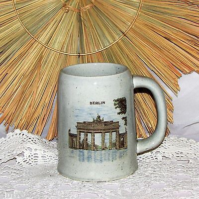 VINTAGE GERMAN BEER STEIN BERLIN 14 oz MUG TANKARD BARWARE SOUVENIR GERMANY NICE