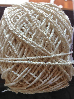 1.5mm-2mm Natural Cream Cotton Rope - macrame/pot hanger/loom/weave/boho/wallart