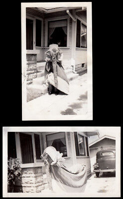 AMAZING SNUFFALUFFAGUS ELEPHANT HALLOWEEN COSTUME~ 1930s VINTAGE PHOTO LOT~