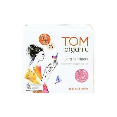TOM Organic Cotton Individually Wrapped Ultra Thin Liners 26pack