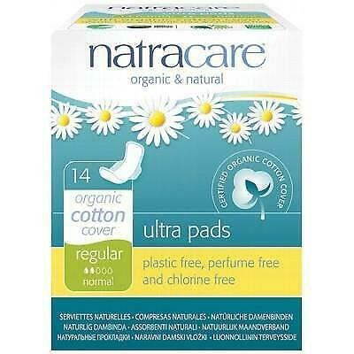 NATRACARE Organic Ultra Pads - Regular with Wings - 14 Pads