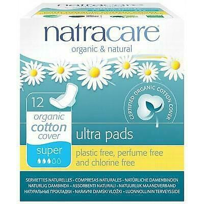 NATRACARE Organic Ultra Pads - Super with Wings - 12 Pads