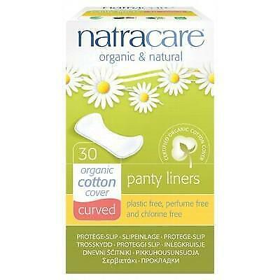 NATRACARE Organic Panty Liners - Curved - 30 Liners