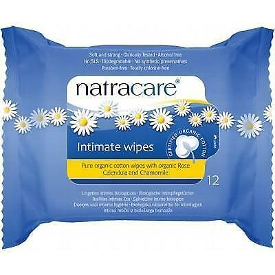 NATRACARE Organic Cotton Intimate Wipes 12 pieces