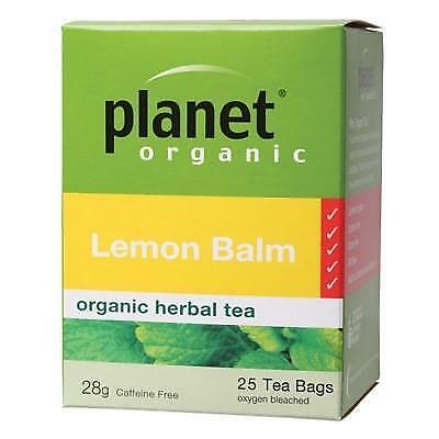 PLANET ORGANIC Lemon Balm Herbal Tea Bags 25