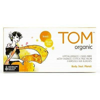 TOM ORGANIC Panty Liners Ultra Thin Liners for Everyday 30