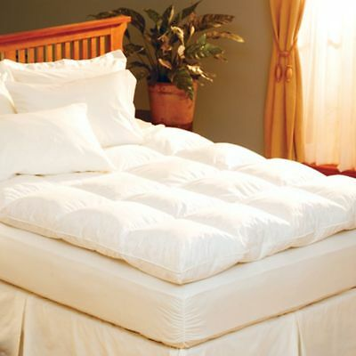 Luxury Hotel Quality Duck Feather & Down Mattress Topper Available In All Sizes