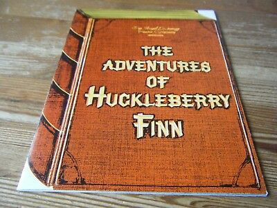 1977 - Theatre  Programme  -  Huckleberry  Finn - The Royal Exchange Theatre Vgc