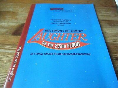 1997 - THEATRE  PROGRAMME  - LAUGHTER ON THE 23rd FLOOR  -WITH FRANK FINLAY  VGC