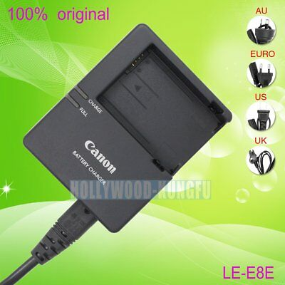 Original Genuine Canon LC-E8E Charger for LP-E8 Battery EOS 550D 600D Kiss X4 X5