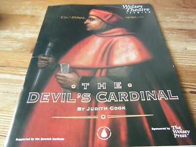 1996 - Theatre  Programme  - The  Devils  Cardinal  The Wolsey Theatre - Ipswich