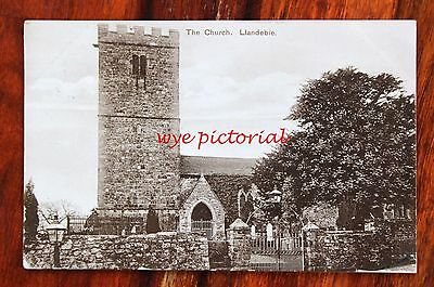 Llandebie Church Carmarthenshire  - Tuck Photogloss Postcard  1911