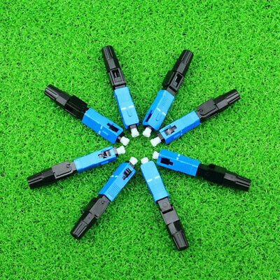 1 Lots 10Pcs Rate High SC Fiber Optic Quick Fast Connector Has High Reliability
