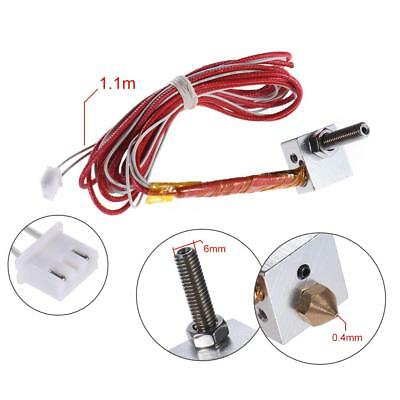 1.75mm M6 30mm/40mm Extruder 0.4mm Nozzle Hot End Assembled for Anet 3D Printer