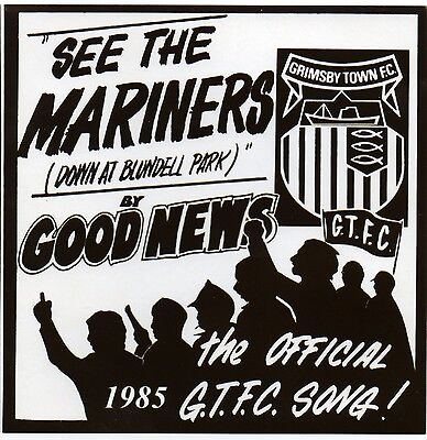 Grimsby Town FC Officially Authorised 1985 song 'See The Mariners' CD EP.