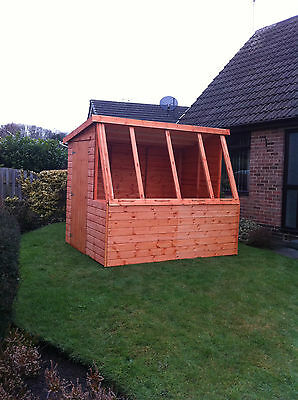 6x6 potting shed quality wooden pent greenhouse super for Buy potting shed