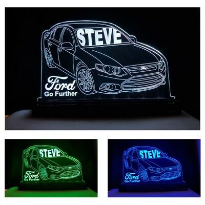 FORD Car LED Light Home Decor Gift Vehicle Custom Name Changing Colours Remote
