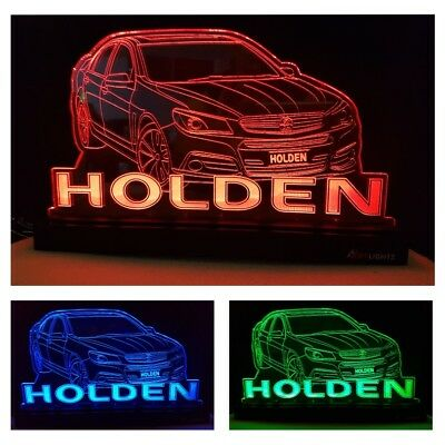 HOLDEN Car LED Light Home Decor Gift Vehicle Custom Name Changing Colours Remote