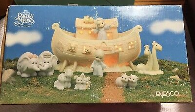 The Enesco Precious Moments Two by Two Noah's Ark Nightlight  w/5 Animal Pairs
