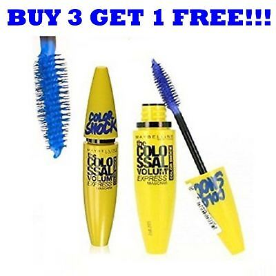 Maybelline Mascara Volume Express Colossal Color Shock 10.7ml Electric Navy