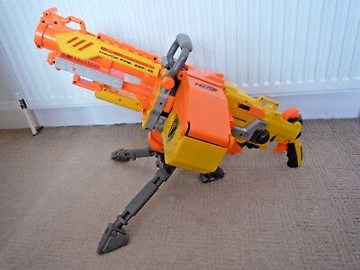 Nerf Havoc Fire Ebf-25 Mounted Machine Gun With Tripod Bullet Belt & Bullet Box