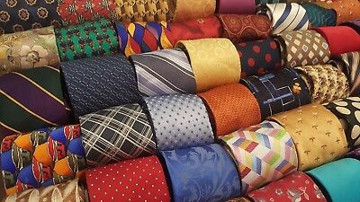 Lot 70 Pcs All Silk Used Neckties Multi Color Tie Bulk Lots Wholesale