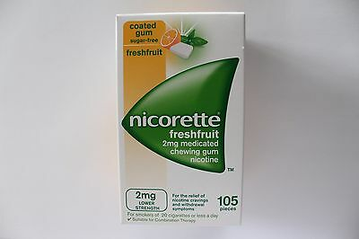 Nicorette Freshfruit Flavour 2mg Sugar-Free Coated Gum - 105 Pieces