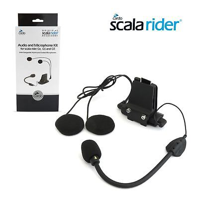 Cardo Scala Rider Audio Microphone Kit With Hybrid and Corded Booms for QZ/Q1/Q3