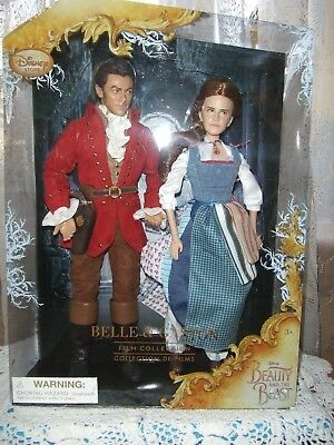 Disney Store Beauty & the Beast film collection Belle & Gaston doll set NRFB NEW