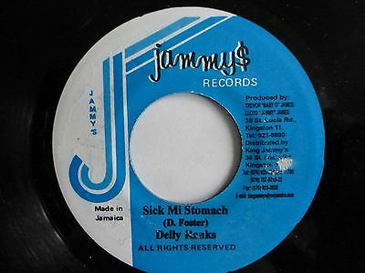 "DELLY RANKS - Sick Mi Stomach, 7"" Vinyl Single. Jammy$ Records (Jamaica)"