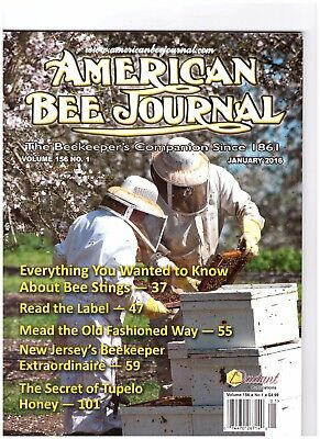 American Bee Journal January 2016 Volume 156 no. 1