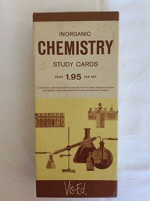 Vintage Vis-Ed Study Card Inorganic Chemistry Box Set Flash Cards
