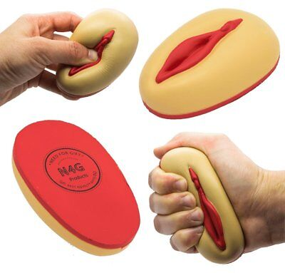 Stress Ball Hand Therapy Relief Squeeze Pussy Puss Rude Gifts Novelty Prank