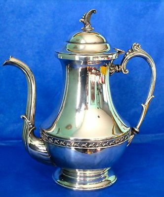"American Antique SHEETS-ROCKFORD Co Stunning SP Coffee Pot 11"" Hallmarked"