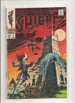 Nick Fury, Agent of SHIELD #3 (Aug 1968, Marvel) VG