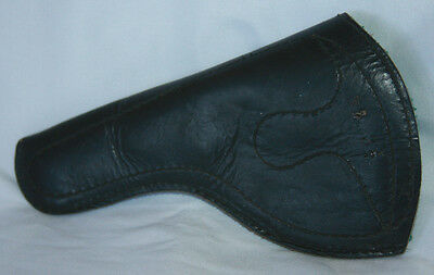 Leather Pistol Holster Stamped 38 3 1/2 Metal Belt Clip Felt Lined