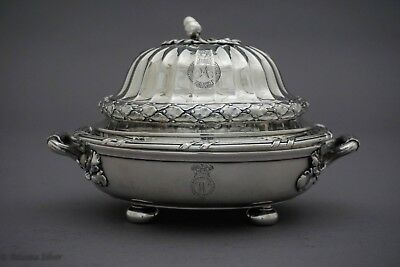 Paul Storr English Silver Butter Dish Circa 1818-19 William IV Sterling Silver