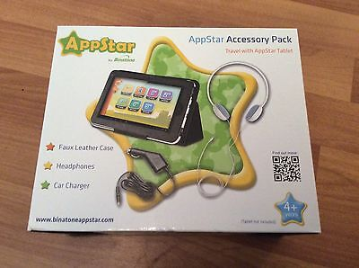 AppStar Accessory Pack, Faux Leather Case, Headphones An Car Charger BNIB