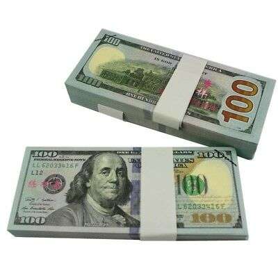 100pcs 100Dollar NoveltyPlay Prop Joke Money Trainning Fake Movie Prank