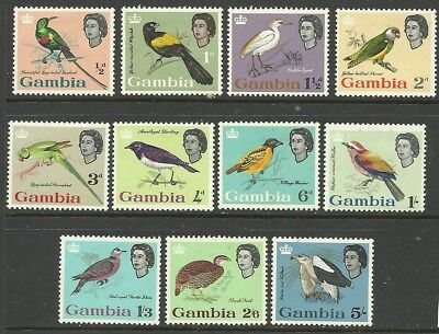 Gambia - QEII second definitive to 5/- - SG193/203 - VLMM - Cat £50